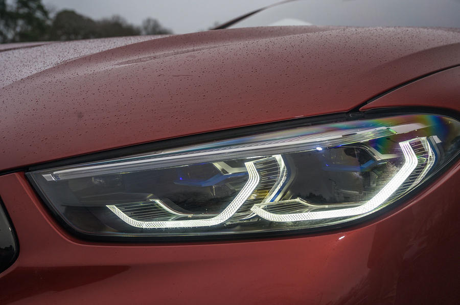 BMW M8 Competition convertible 2020 road test review - headlights
