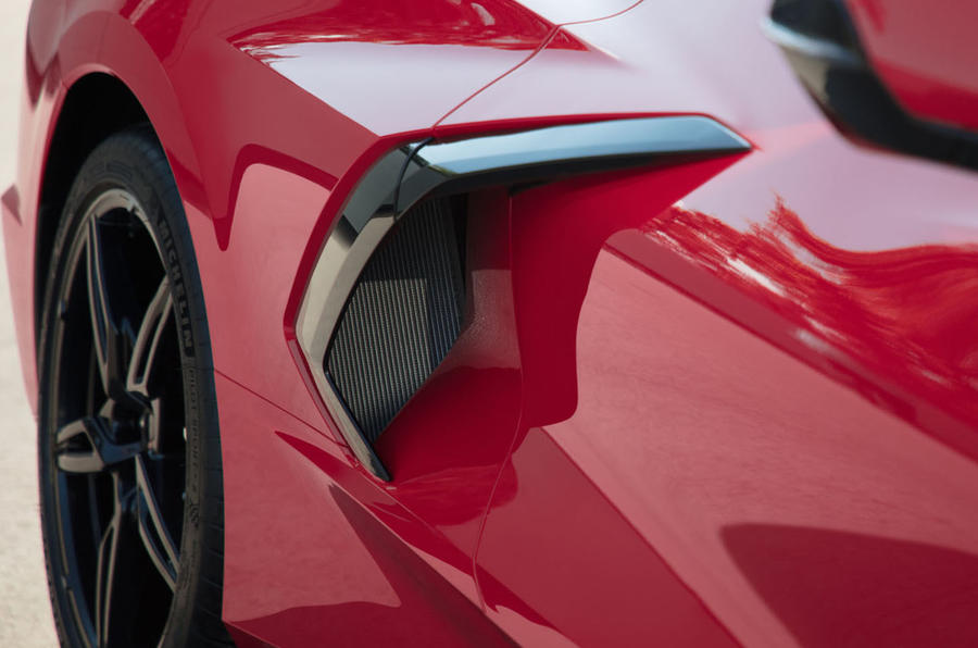 Corvette Stingray C8 2019 road test review - air intake