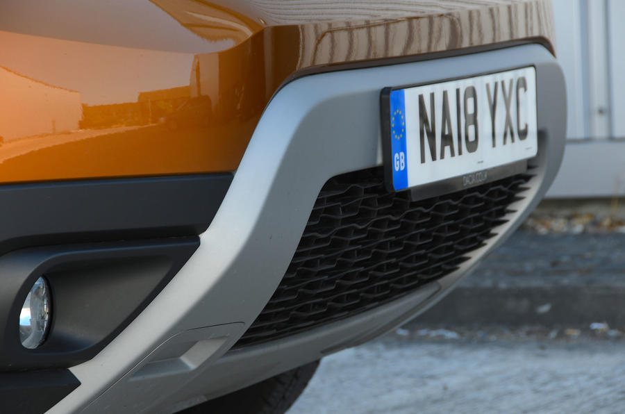 Dacia Duster 2018 road test review front bumper