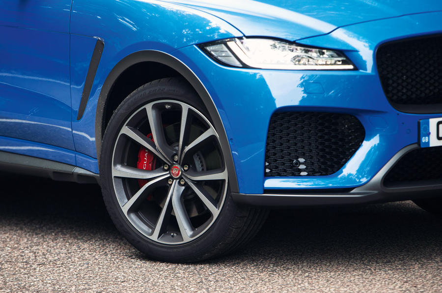 Jaguar F-Pace SVR 2019 road test review - alloy wheels