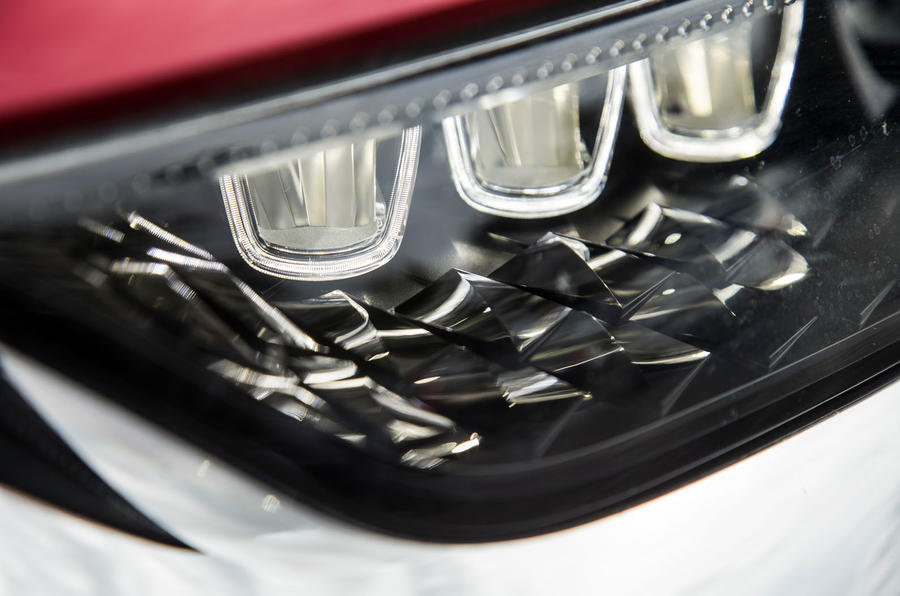 DS 7 Crossback 2018 road test review headlight detail