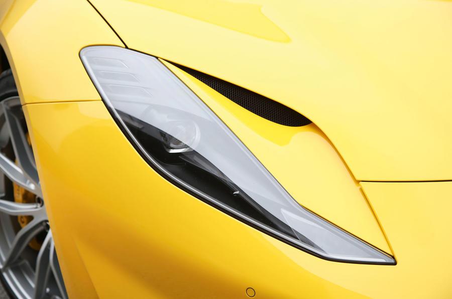 Ferrari 812 Superfast 2018 road test review headlights