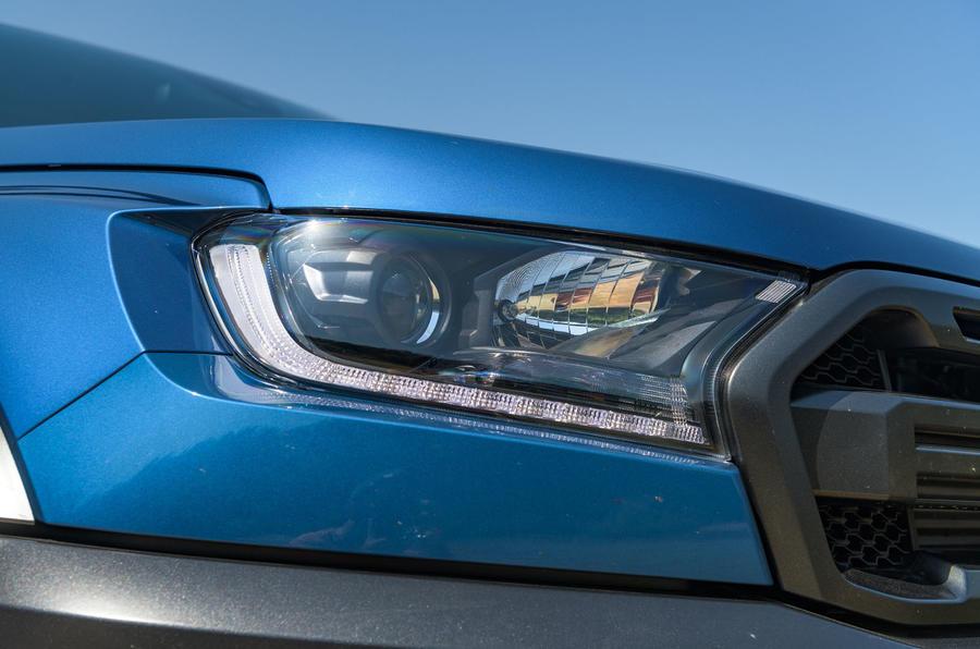 Ford Ranger Raptor 2019 road test review - headlights