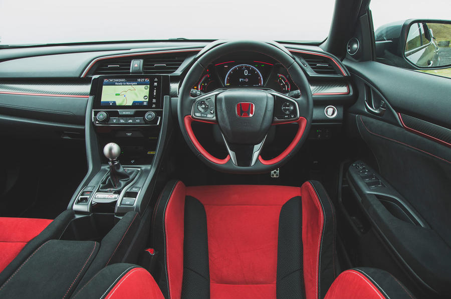 Honda Civic Type R 2019 road test review - dashboard
