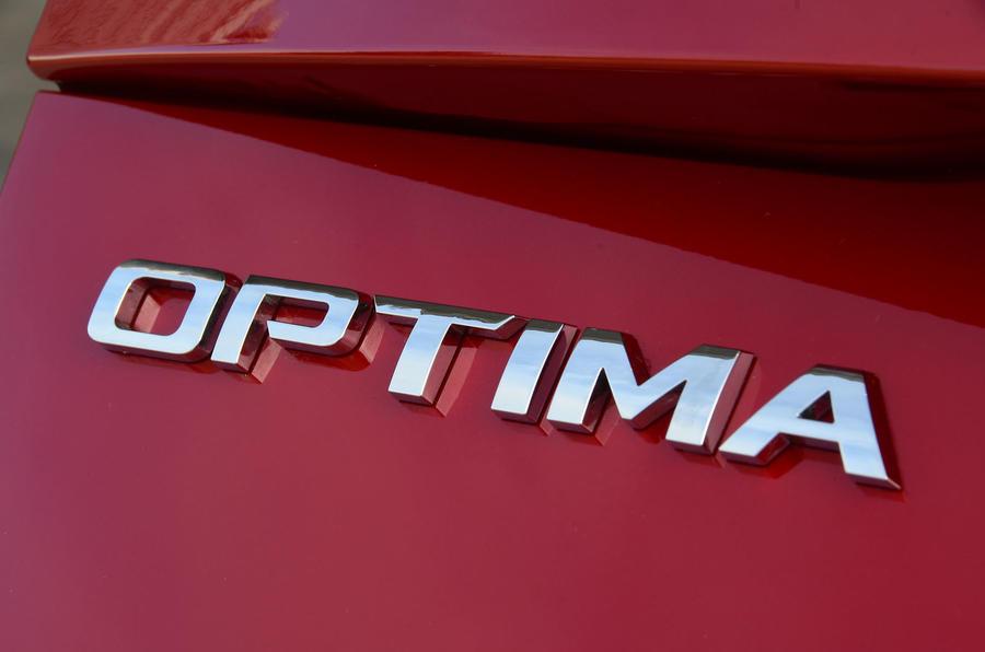 Kia Optima Sportswagon 2018 review - Optima badge