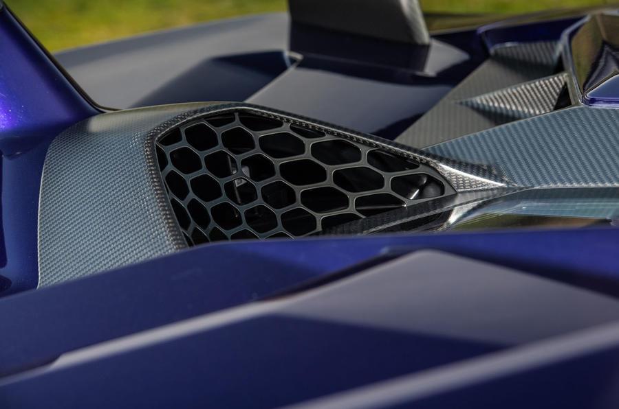 Lamborghini Aventador SVJ 2019 road test review - air intakes