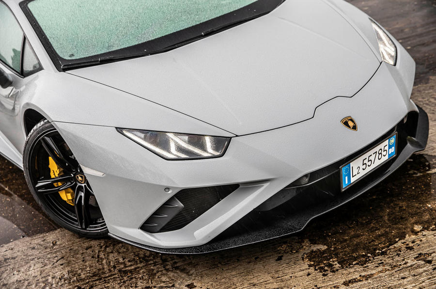 Lamborghini Huracan EVO RWD 2020 road test review - nose