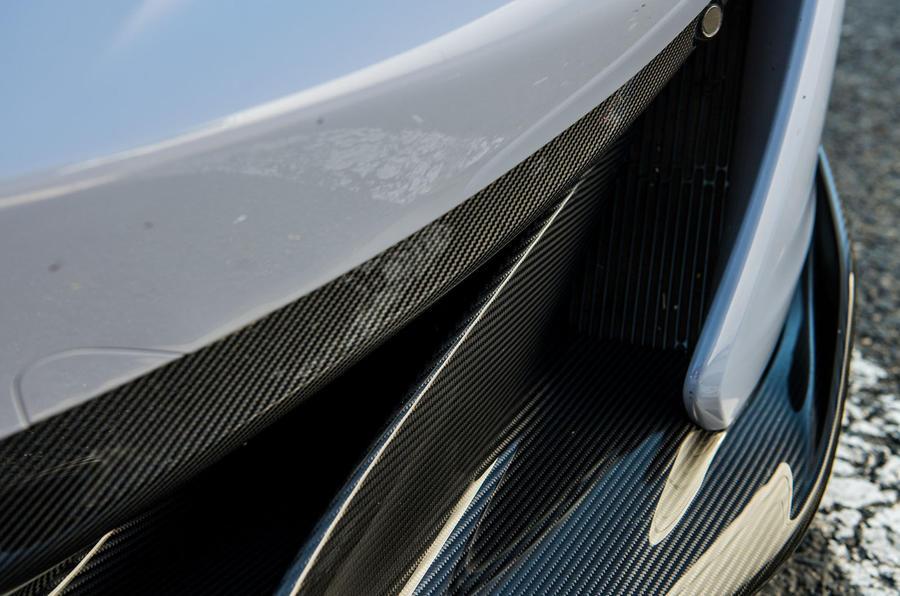 McLaren 600LT 2018 review - front carbon fibre
