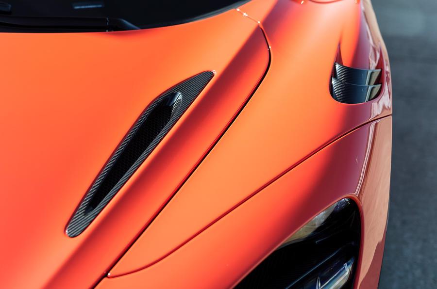 McLaren 765LT 2020 road test review - bonnet