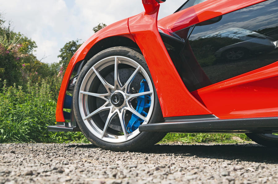McLaren Senna 2018 road test review - alloy wheels