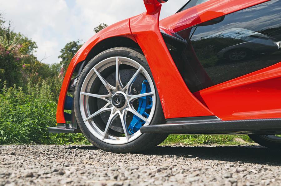 McLaren Senna 2018 road test review - alloy wheels