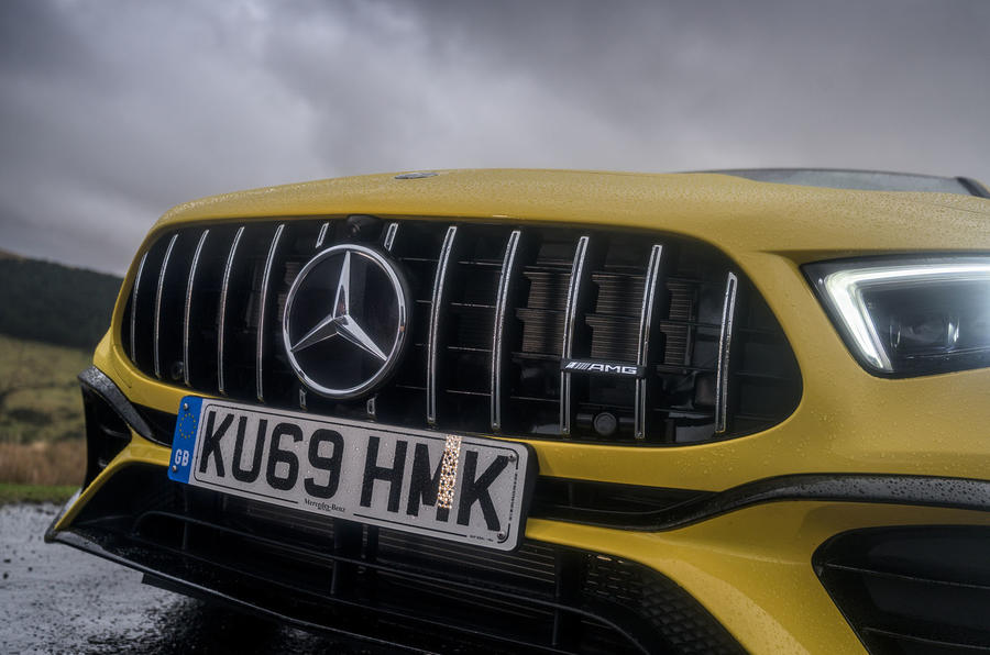 Mercedes-AMG A45 S 4Matic+ 2020 road test review - front grille