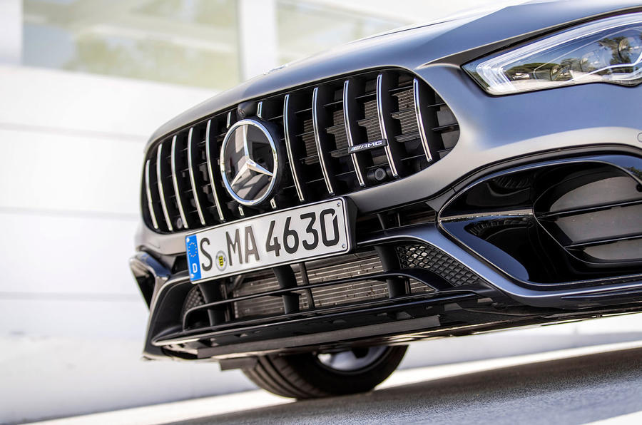 Mercedes-AMG CLA 45 S 2019 road test review - front end