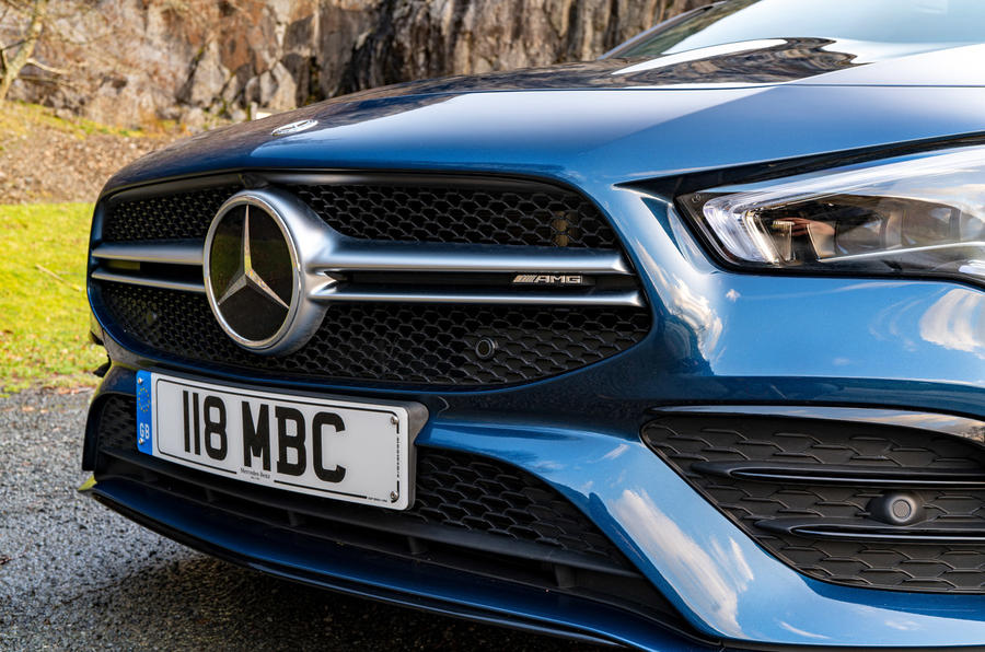 Mercedes-AMG CLA35 2020 road test review - front end
