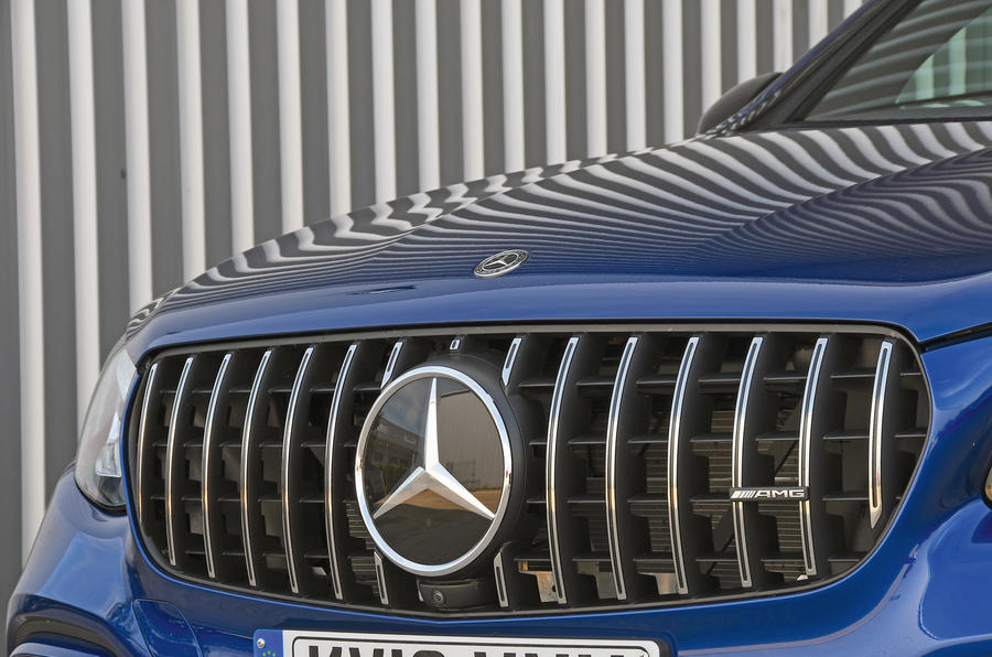 Mercedes-AMG GLC 63 S road test review bonnet badge