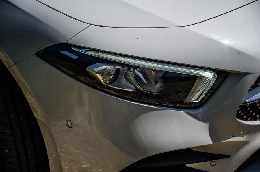 Mercedes-Benz A250e 2020 road test review - headlights