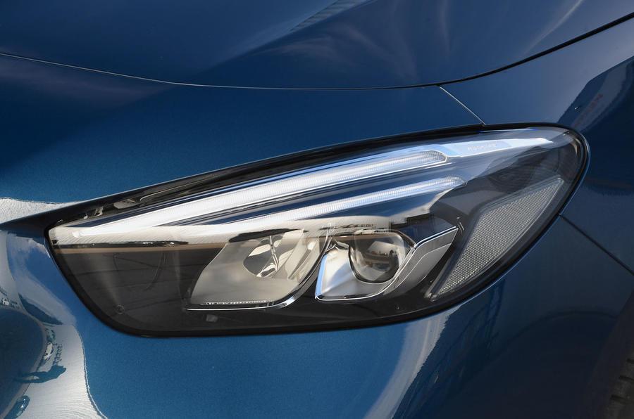 Mercedes-Benz B-Class 2019 road test review headlight