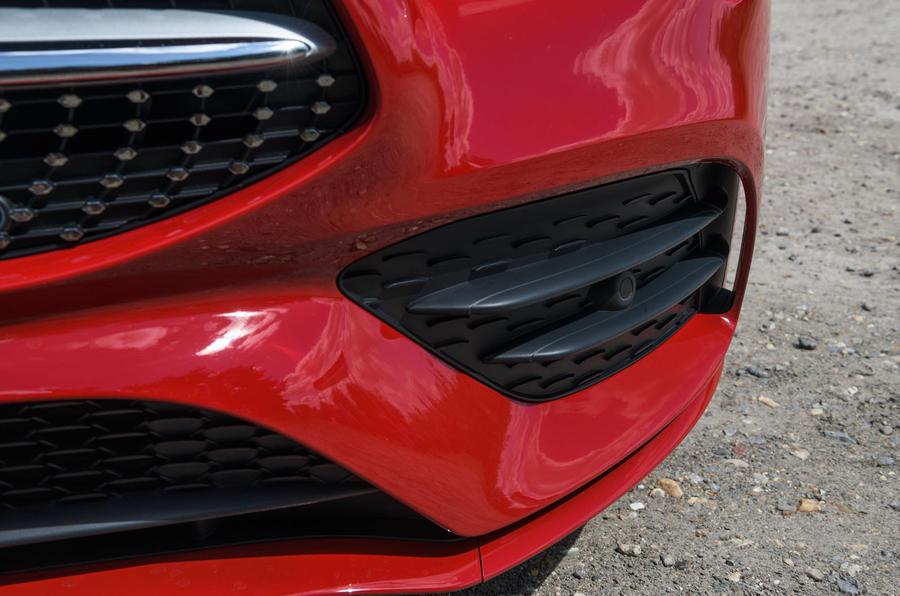 Mercedes-Benz CLA 2019 road test review - front bumper