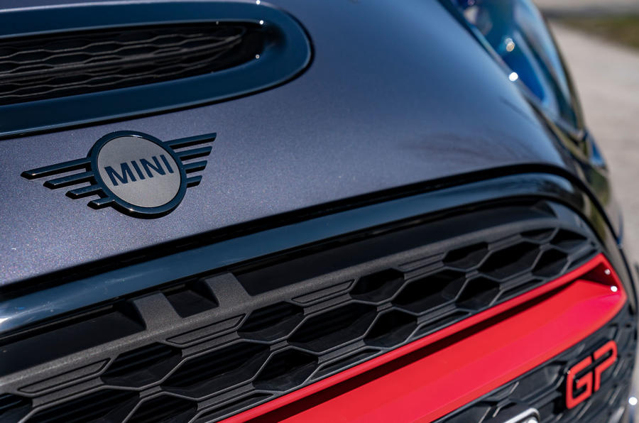 Mini JCW GP 2020 road test review - nose badge