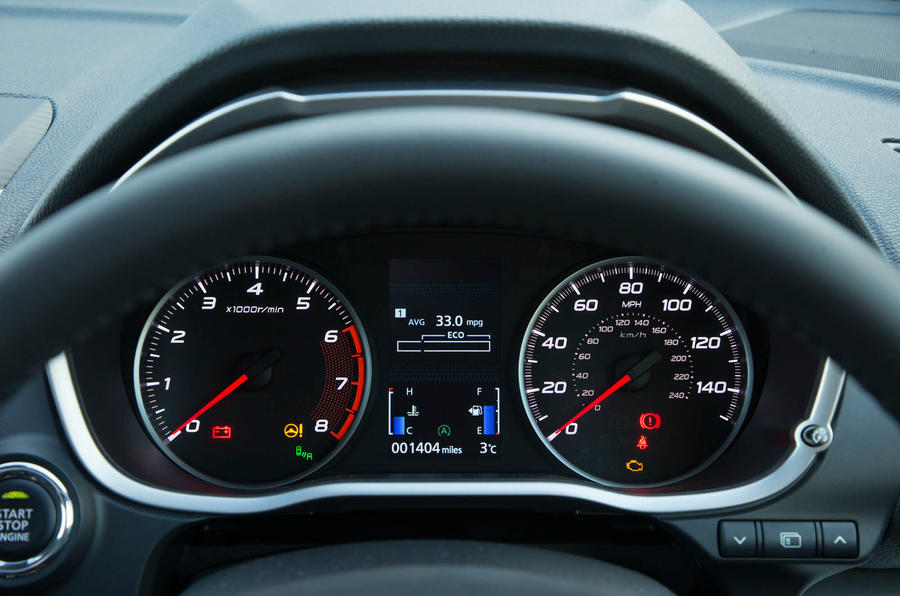 Mitsibushi Eclipse Cross 2018 review instrument cluster