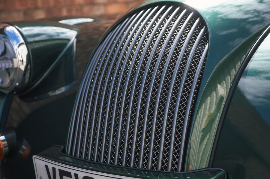 Morgan Plus Six 2019 road test review - front grille