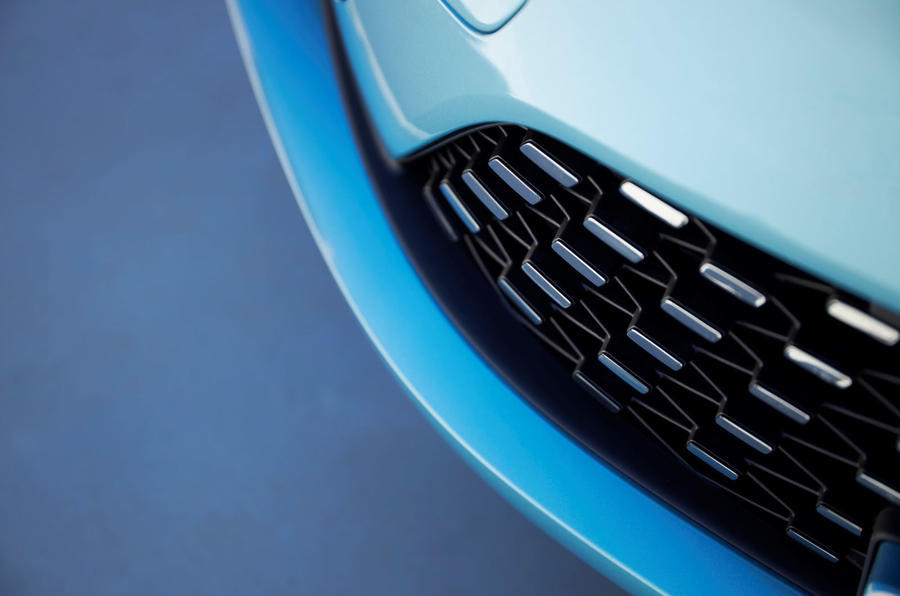 Renault Zoe 2020 road test review - front grille