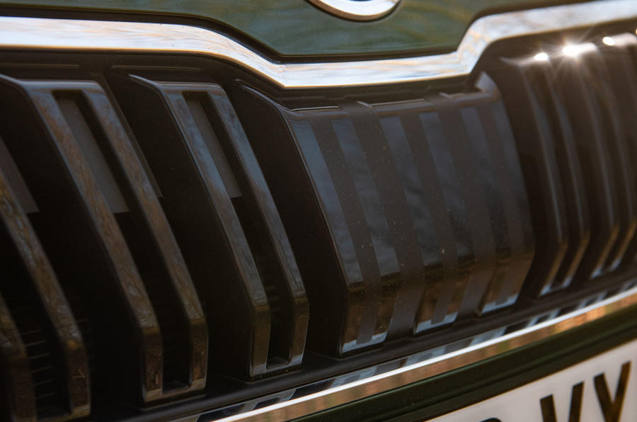 Skoda Karoq Scout 2019 road test review - front grille