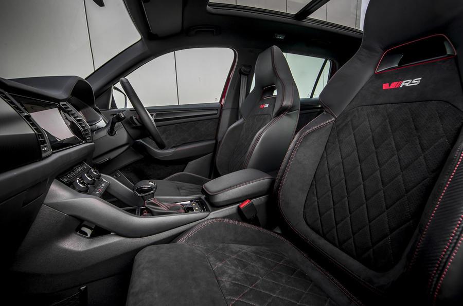 Skoda Kodiaq vRS 2019 road test review - cabin