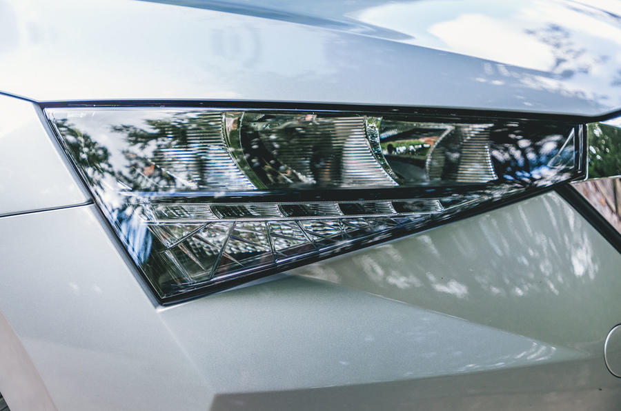 Skoda Scala 2019 road test review - headlights