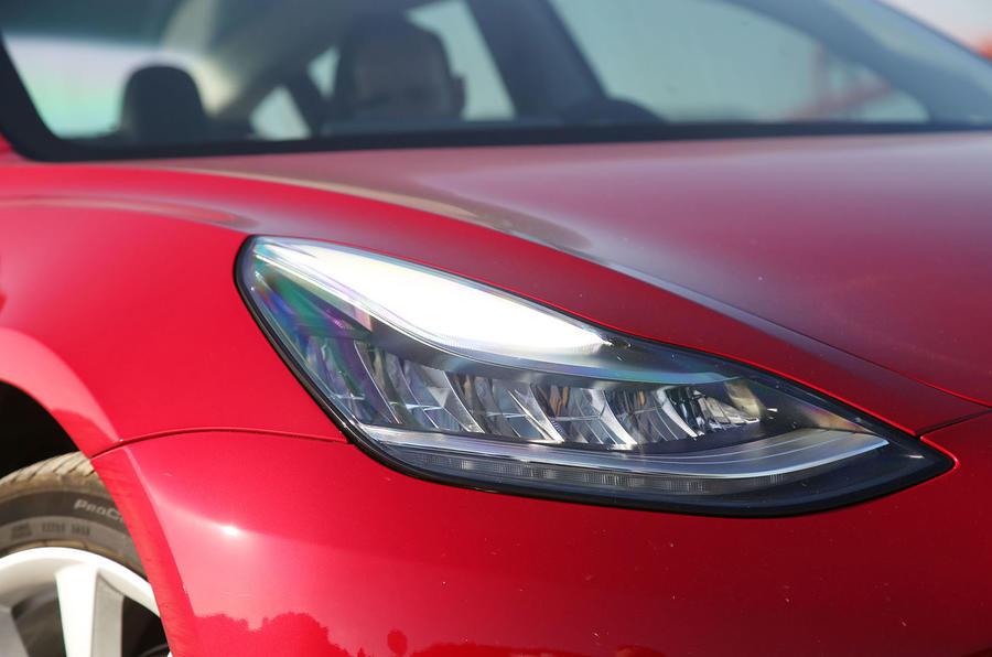 Tesla Model 3 2018 road test review headlights