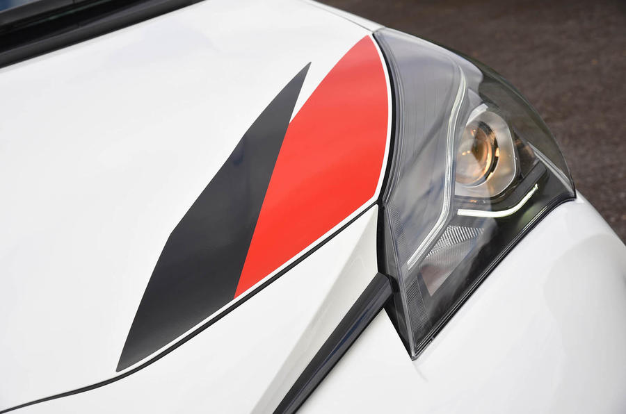 Toyota Yaris GRMN bonnet decals