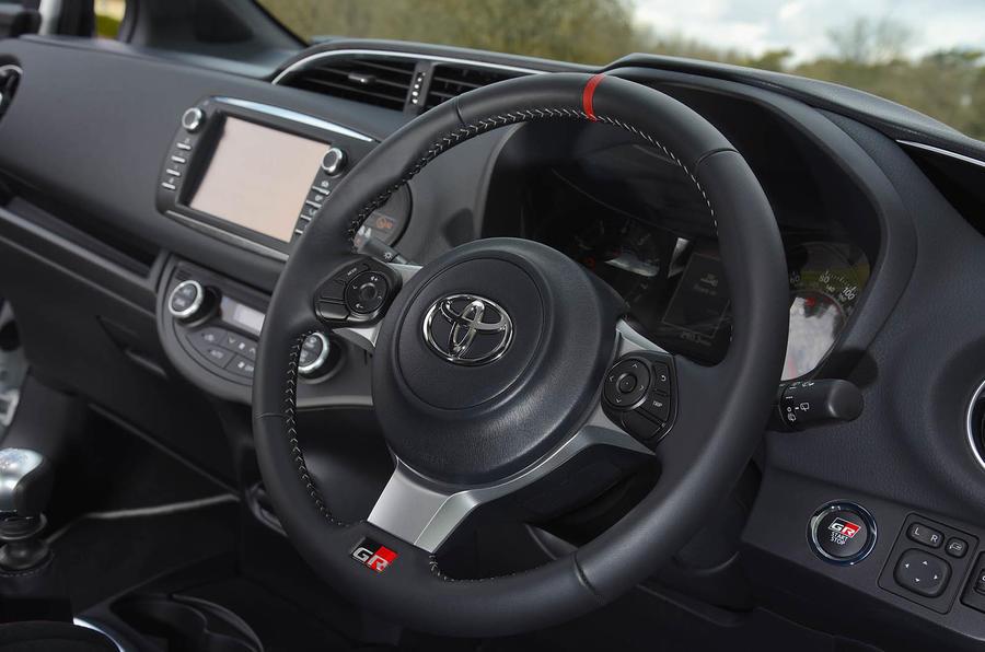 Toyota Yaris GRMN steering wheel