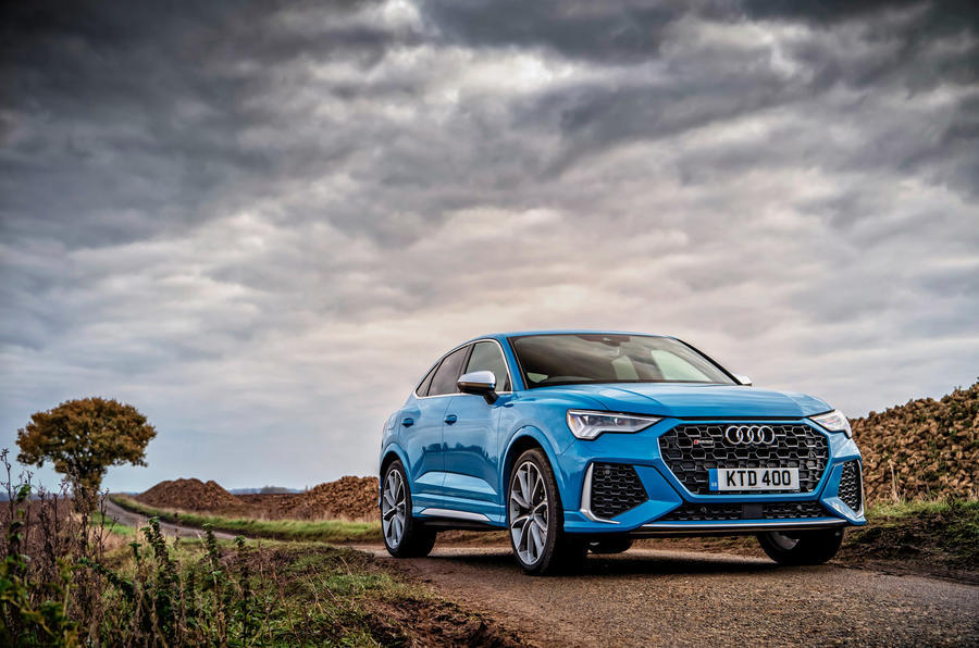 Audi RS Q3 Sportback 2020 road test review - static front