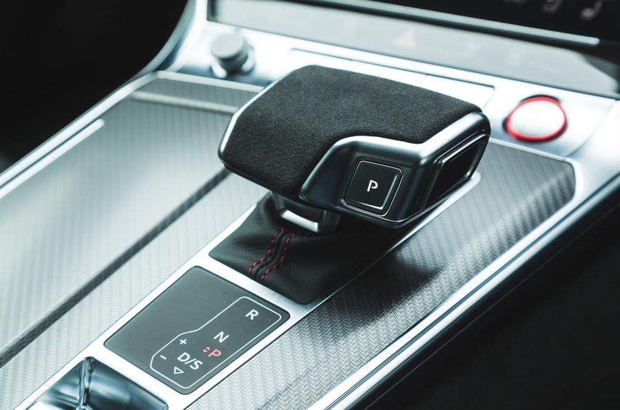 Audi RS6 Avant 2020 road test review - gearstick