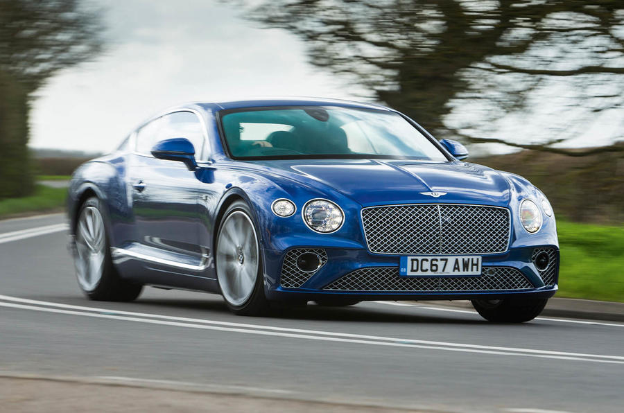 Bentley Continental GT 2018 Autocar road test review cornering left