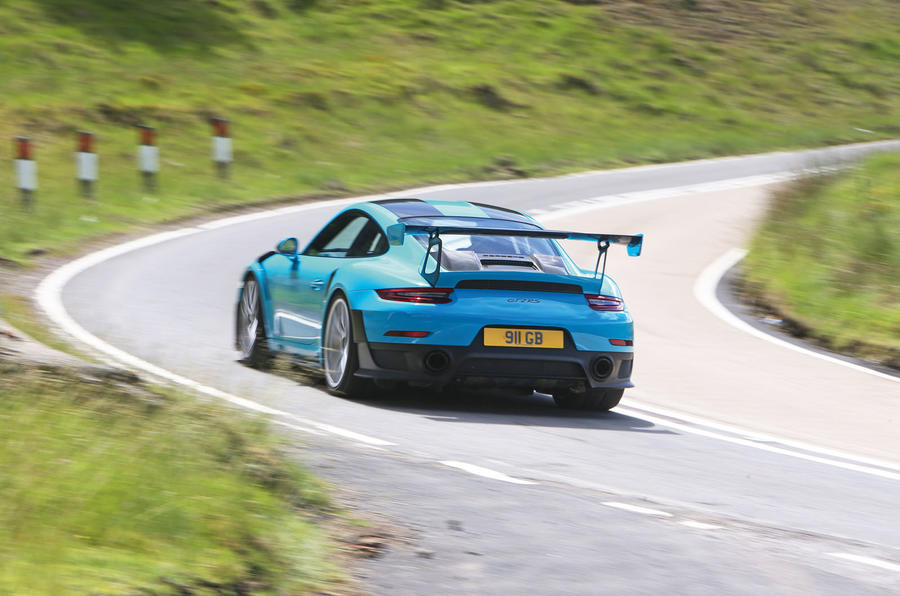 Porsche 911 GT2 RS 2018 road test review cornering