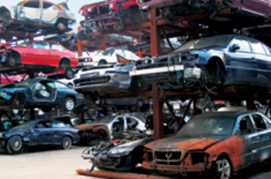 Scrappage shifts 35,000 cars