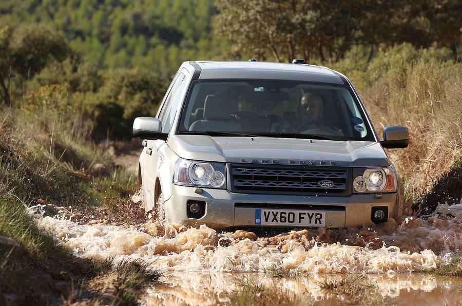 Land Rover Freelander wading