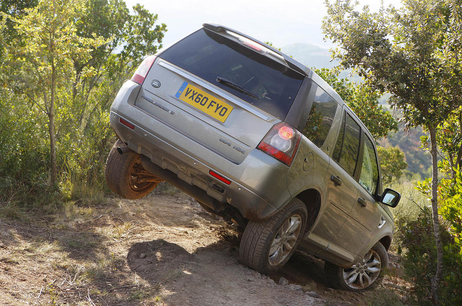 Land Rover Freelander rear severe off-roading