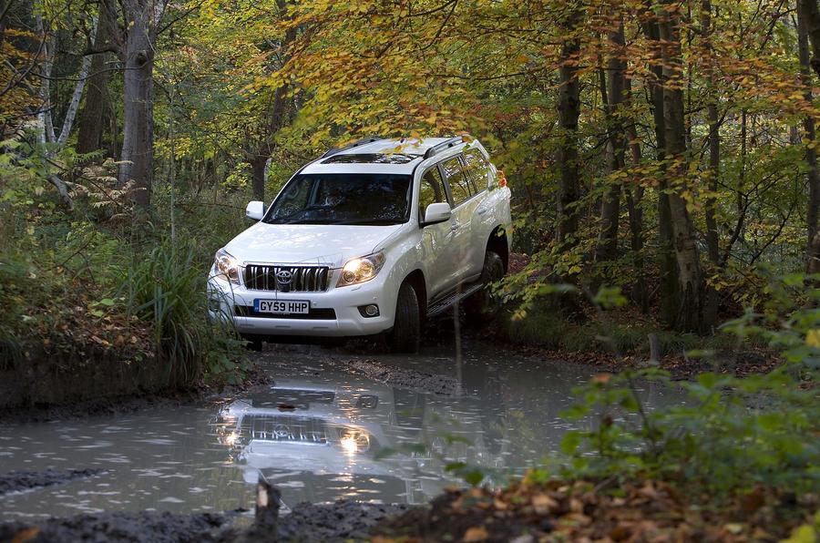 Toyota Land Cruiser wading