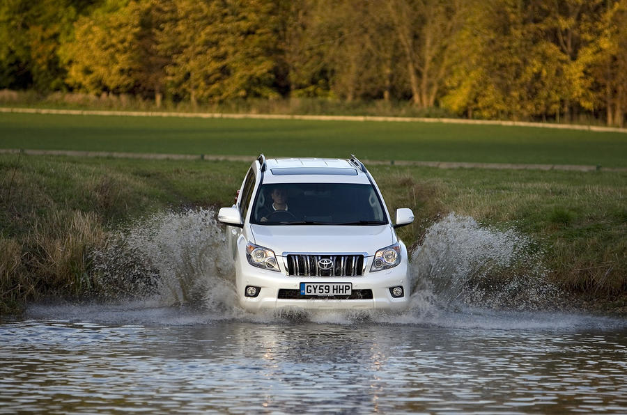 Toyota Land Cruiser in the water