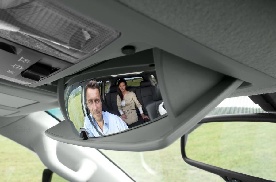 Toyota Land Cruiser rear passenger mirror