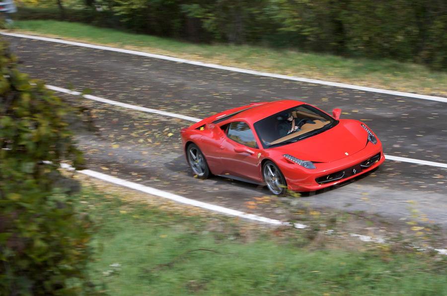 Ferrari 458 Italia top profile