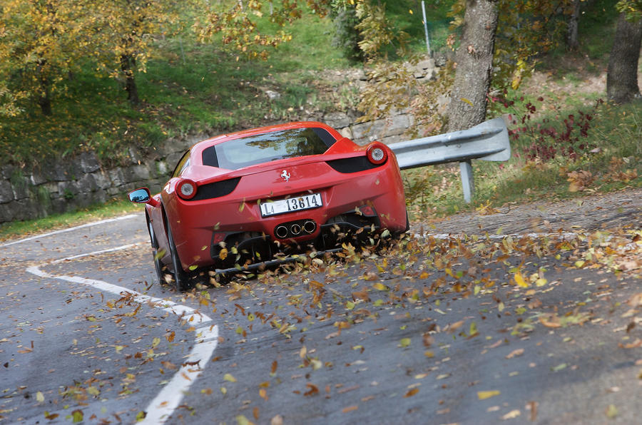 Ferrari 458 Italia on the road