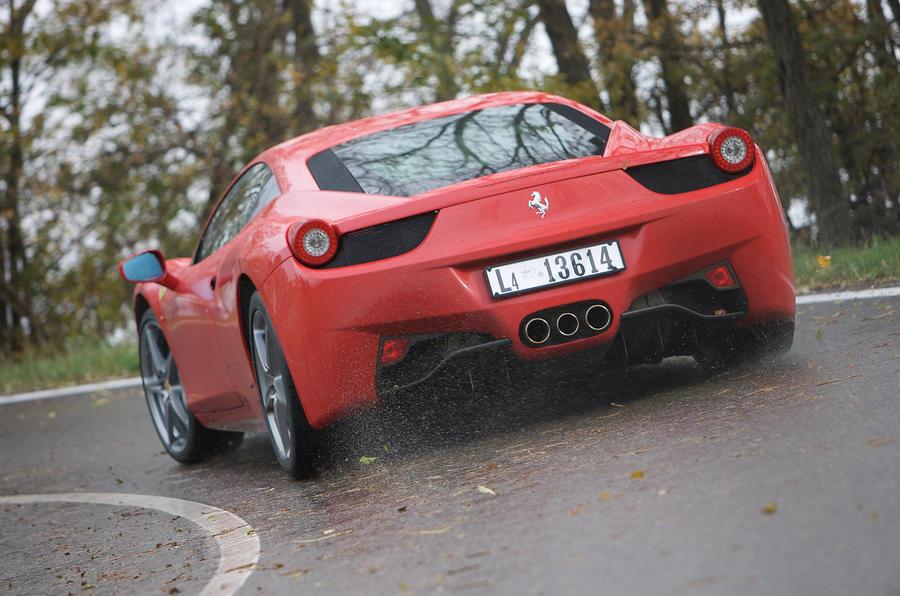 Ferrari 458 Italia rear cornering