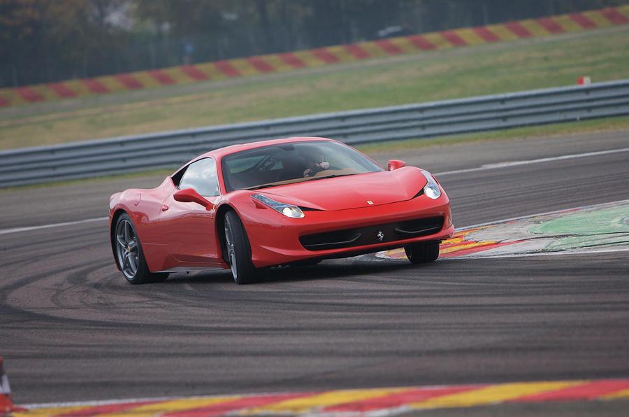 Ferrari 458 Italia drifting