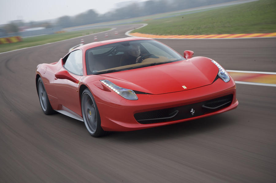 Ferrari 458 Italia on the track