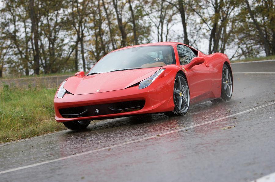 Ferrari 458 Italia cornering