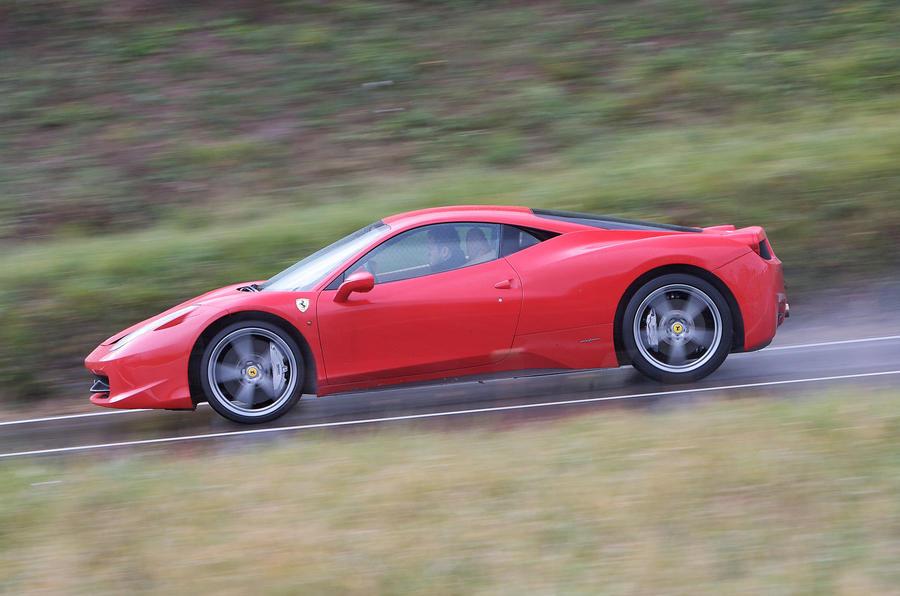 Ferrari 458 Italia on the road