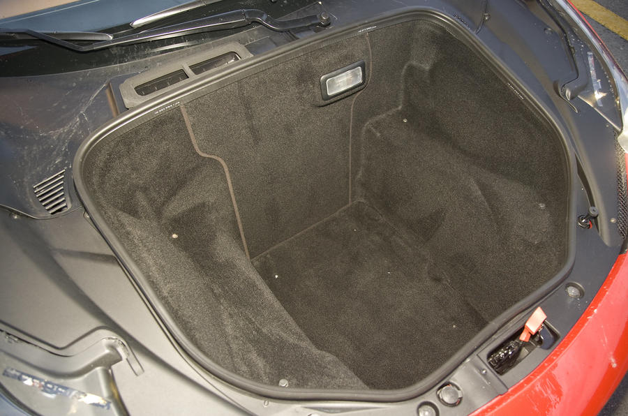 Ferrari 458 Italia boot space